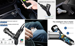 Charger Dual USB + Cigarette Lighter