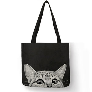 Cat Pattern Shopping Bag
