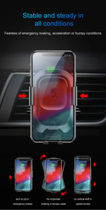 Sensor Fast Wireless Charging Car Phone Charger