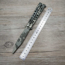 Load image into Gallery viewer, knife butterfly Stainless Steel Training Knife folding titanium