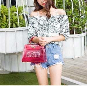 Bags Women Clear Transparent PVC Shoulder Bags