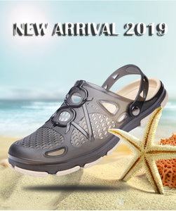 Men Beach Sandals Hollow Slippers