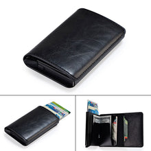 Load image into Gallery viewer, Vintage Aluminum Wallet PU Leather Antitheft