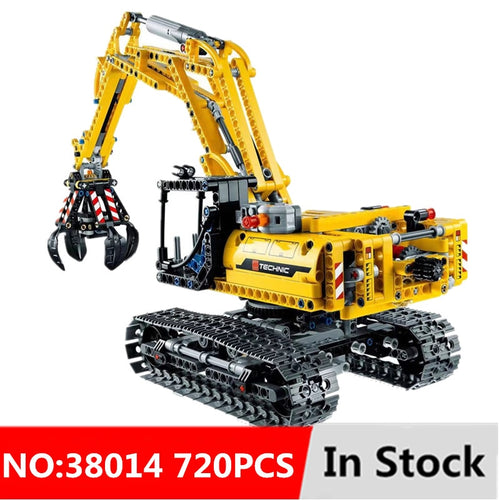 Compatible Legoing 720pcs 2in1 Excavator Model Building for children