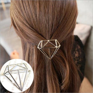 Hair Clip Pin Metal Triangle