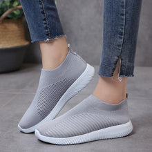 Load image into Gallery viewer, Sneaker Knitted Mesh Vulcanized Shoes Casual Slip