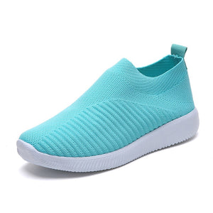 Sneaker Knitted Mesh Vulcanized Shoes Casual Slip