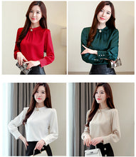 Load image into Gallery viewer, blouses chiffon long sleeve women shirts