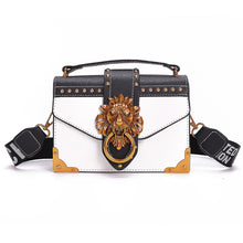 Load image into Gallery viewer, Fashion Metal Lion Head Mini Small  Pack Shoulder Bag