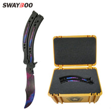 Load image into Gallery viewer, butterfly  knife CS GO Karambit folding Knife set tool