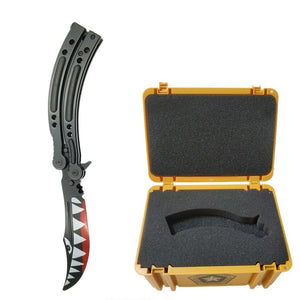 butterfly  knife CS GO Karambit folding Knife set tool