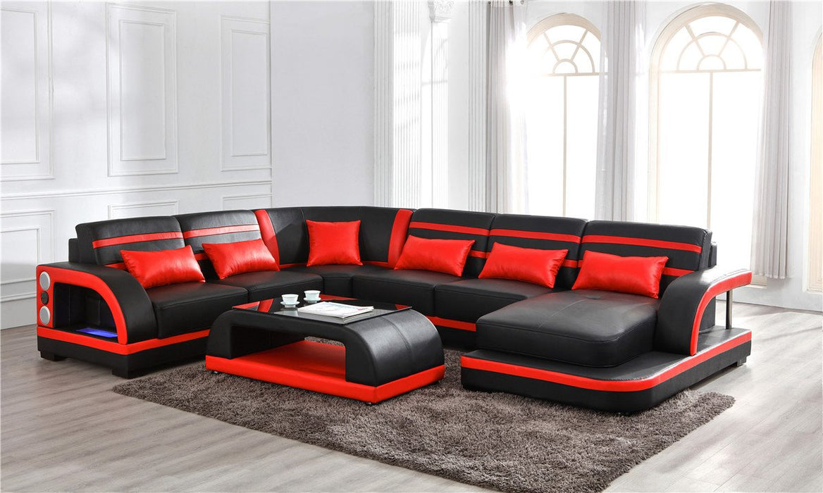 Enzo Leather Sectional Collection