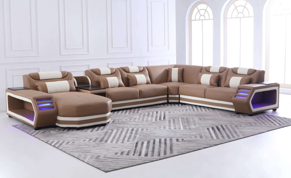 Lusso Italian Leather Sectional Collection