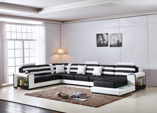 Modani Italian Leather Sectional Collection