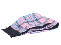 M11 Pink Plaid Mask Scarf Set