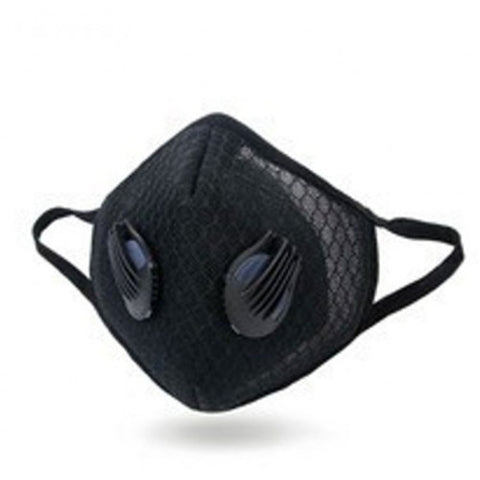 Healthy Air Mask Black Micromesh Activated Carbon Mask w/ 2 Exhale Valves + 2 HN299 Filters