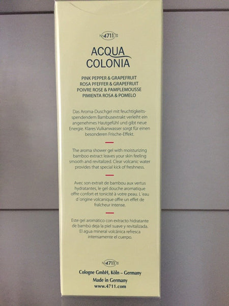 4711 Acqua Colonia PINK PEPPER & GRAPEFRUIT Aroma Shower Gel - 200ml