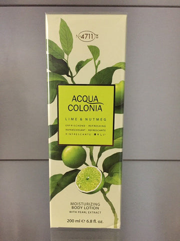 4711 Acqua Colonia LIME & NUTMEG, Moisturizing Body Lotion, 200ml