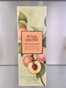 4711 Acqua Colonia WHITE PEACH & CORIANDER, Moisturizing Body Lotion - 200ml