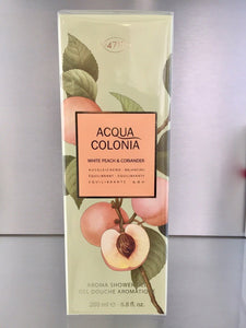 4711 Acqua Colonia WHITE PEACH & CORIANDER, Aroma Shower Gel - 200ml - 4711