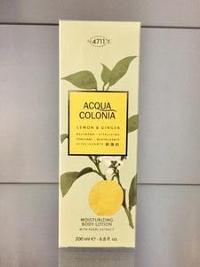 4711 Acqua Colonia LEMON & GINGER , Aroma Body Lotion, 200ml
