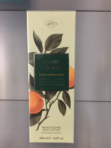 4711 Acqua Colonia BLOOD ORANGE & BASIL, Moisturizing Body Lotion, 200ml