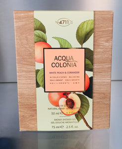 4711 Acqua Colonia WHITE PEACH & CORIANDER - GIFT PACK - 4711