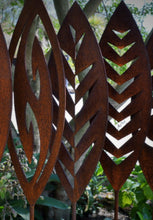 Load image into Gallery viewer, Corten Spear Fish Hook Outdoor Art