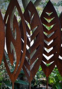 Corten Spear  Reflection Outdoor Art