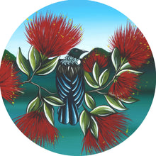 Load image into Gallery viewer, Indoor/Outdoor Art Circle Tui & Pohutukawa