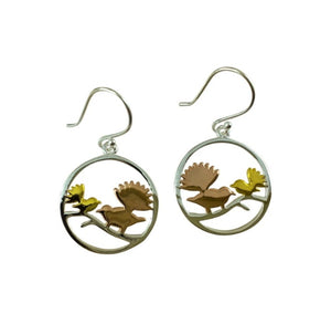 Sterling Earrings - Fantails in a Circle