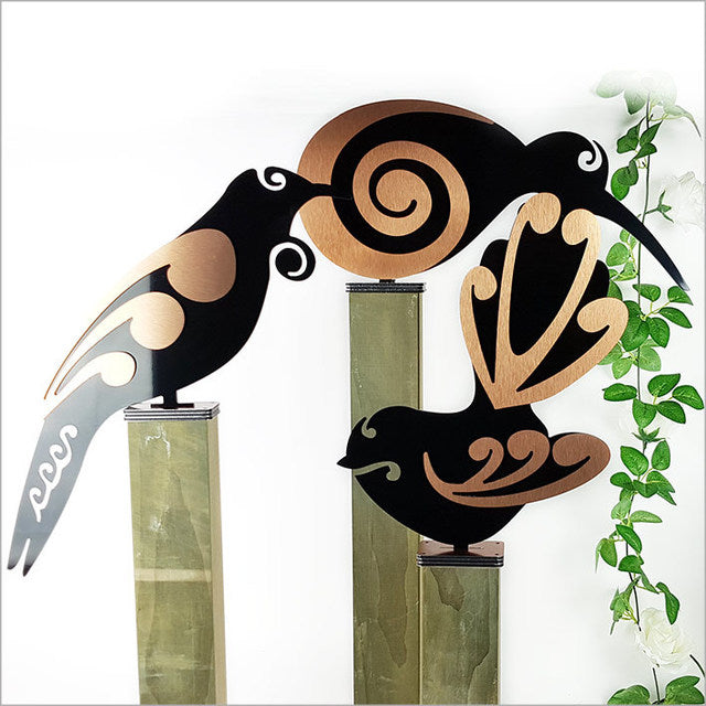 Freestanding Art - Fantail, tui or Kiwi