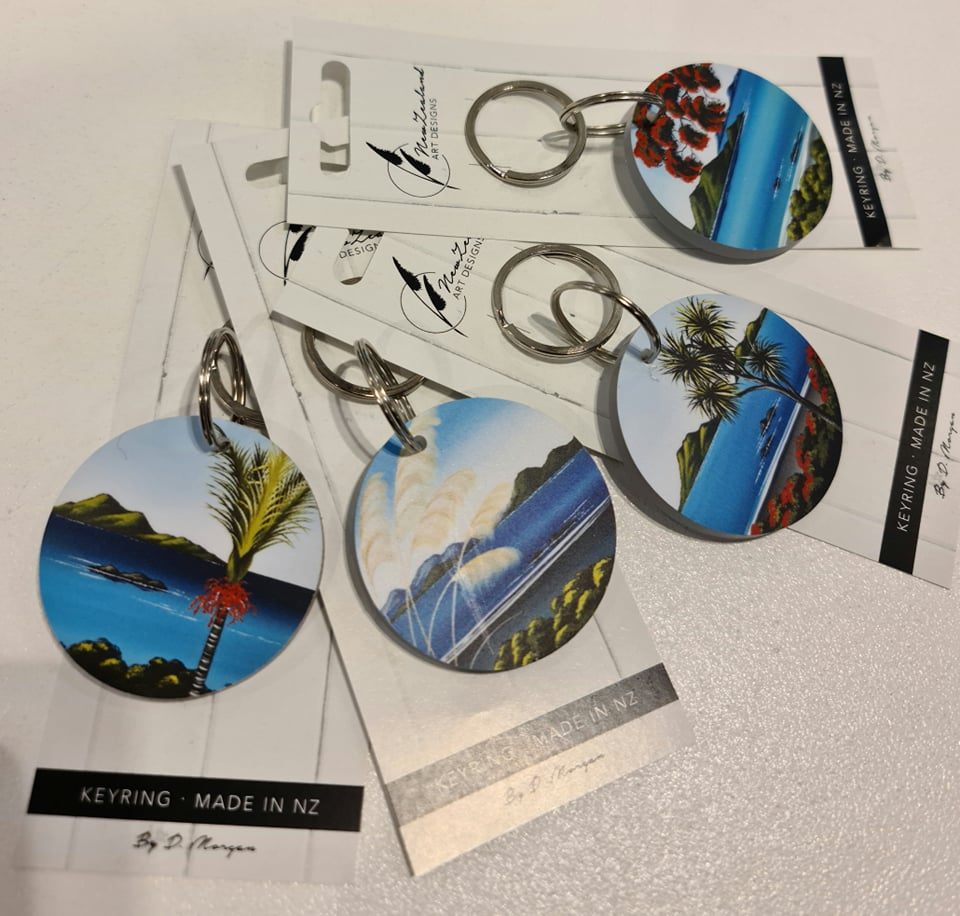 NZ Art Designs Coastal Series Keyrings