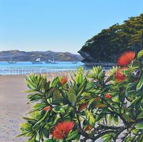 Original Acrylic Shirley Cresswell - Kiwi Holiday