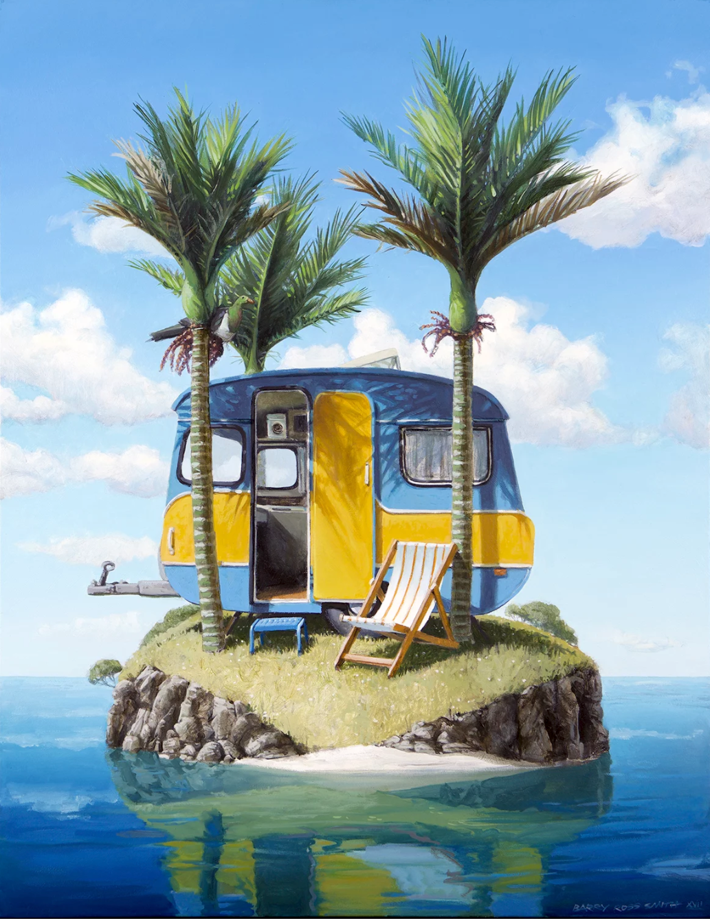 Barry Ross Smith Caravan Matted Print