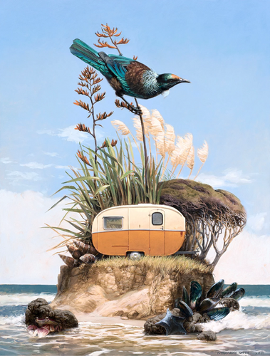 Barry Ross Smith Freedom Camper Matted Print