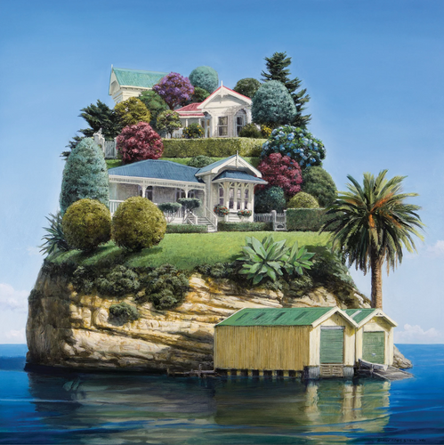 Barry Ross Smith Waterfront Villas Matted Print