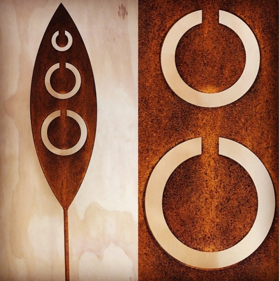 Corten Spear Tribal Outdoor Art