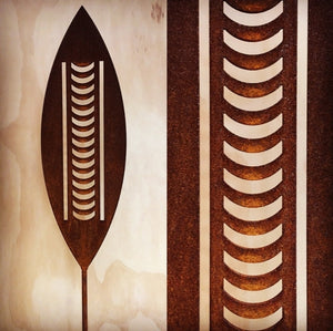 Corten Spear Nikau Outdoor Art