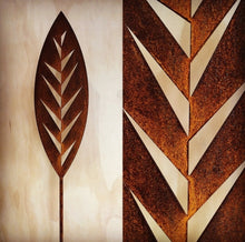 Load image into Gallery viewer, Corten Spear Leaf Outdoor Art