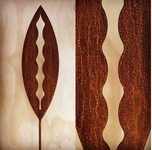 Corten Spear Kowhai Outdoor Art