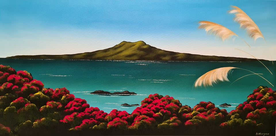 Original Acrylic Painting - Rangitoto