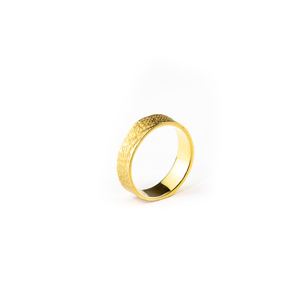 Conor Joseph, Thin Gold Skin Textured Ring