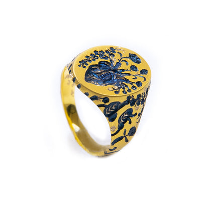 "Castro Smith, ""Golden Heart"" Ring"