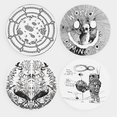 Set of 4 Plates by Sir Ridley Scott, Jake Chapman, Francesca Amfitheatrof & Alexander McQueen