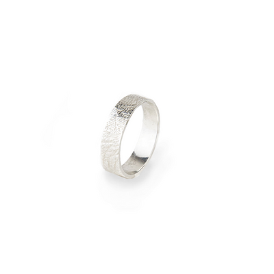 Conor Joseph, Thin Silver Skin Textured Ring
