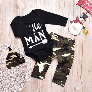 Baby Boys' Active / Basic Leter Print Long Sleeve Clothing Set, zoerea.com