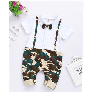 Camouflage Gentleman Jumpsuit For Baby Boy, zoerea.com