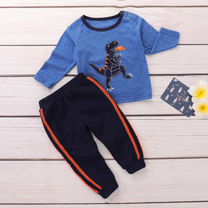 2-piece Trendy Dinosaur Pattern Top And Pants Set, zoerea.com