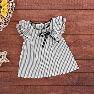 Baby Girls' Floral Striped A-line Dress, zoerea.com